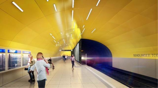 Visualisierung des künftigen südöstlichen Bahnsteigendes (Grafik: SWM/MVG)